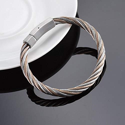 Urne urnhanger roestvrij staal kleur mixed kabel magnetische armband aandenken as urne voor Pet Human Memorial mannen vrouwen sieraden armband