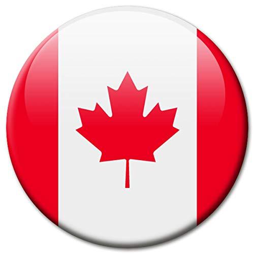 Kühlschrankmagnet Flagge Kanada Magnet Länder Flaggen Reise Souvenir Canada für Kühlschrank stark groß 50 mm