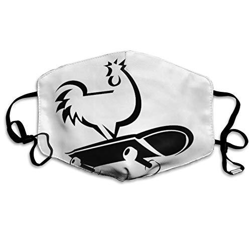 jhgfd7523 Cubierta para la boca de la cara de la cubierta de la cara del patn del pollo lavable cubierta de la boca bufanda reutilizable para la boca bufanda