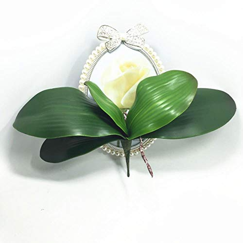 XCVB Kunstmatige DIY ingemaakte bloemstukkenbloem Orchidee bladerenhoge PU lijm textuur bladeren, 25cm blad