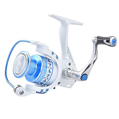 Carretes de Pesca ZWRY Sistema de Embrague unidireccional Carrete Giratorio de Perfil bajo 9 + 1 rodamientos de Bolas MAX Drag 8KG Carrete de Pesca de Carpa Serie 500 Verano