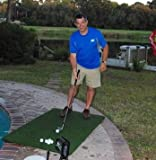 Real Feel Golf Mats The Original Country Club Elite 3'x5' Heavy Duty Commercial Practice Mat. The First Golf Mat That Takes A Real Tee and Lets You Swing Down Through,Simulator,Indoor/Outdoor (1)