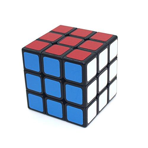 2EYOU ルービックキューブ スピードキューブ 3×3×3 世界基準配色 ver.2.0 スムーズ回転 競技専用 立体パズル (6面完成攻略書付) (黒素体)