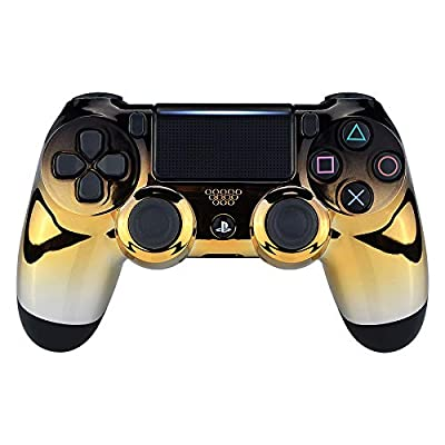 eXtremeRate Chrome Front Housing Shell Faceplates for Playstation 4 PS4 Pro Slim Controller (CUH-ZCT2 JDM-040 JDM-050 JDM-055)