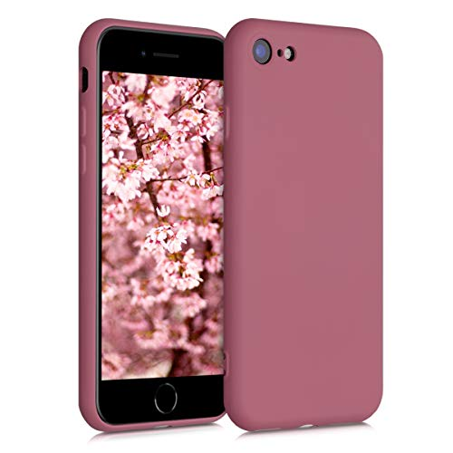 kwmobile Hülle kompatibel mit Apple iPhone 7/8 / SE (2020) - Handyhülle Handy Case in Deep Rusty Rose