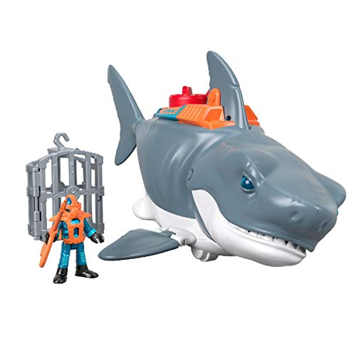 Fisher-Price GKG77 Imaginext Mega Bite Shark, Figure Set with Realistic Motion, Multicoloured
