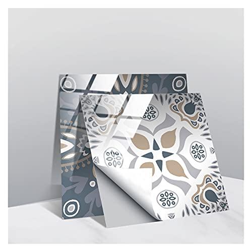 LOEMWJ Vinilos Ladrillo 30 Packet Pegatinas de Azulejos Peel and Stick Wall Azulejos para baño Decoración de Cocina Decoración Retro Tile Transfers Pegatinas (Size : 20cm*20cm)