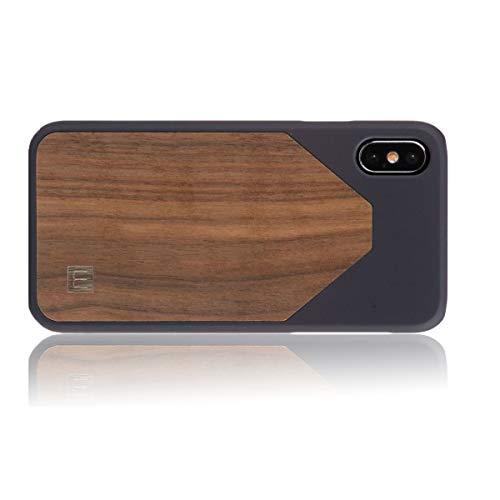 WOLA Holzhülle WOOD7 für iPhone X/Xs Hülle Holz Handyhülle Nussholz