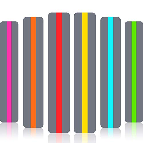 Guided Reading Strips Highlight Strips Colored Overlay Highlight Bookmarks Help with Dyslexia for Crystal Children and Teacher Supply Assistant (6 Pieces)