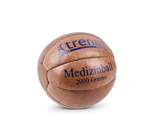 trenas Original Medizinball aus Leder - 2 KG