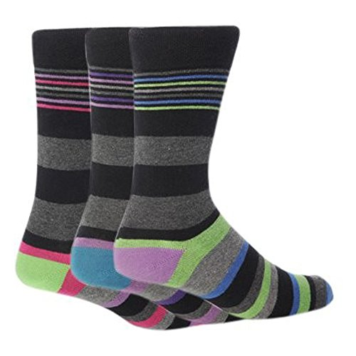 Giovanni Cassini Herren Socken, Gestreift mehrfarbig gemischt