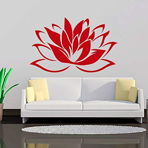 jiuyaomai Más vendidos Budismo Lotus Vinilos Decorativos Sala de Estar Arte extraíble Vinilo Decoración de la Pared Murales Calcomanías 7 66cmx43cm