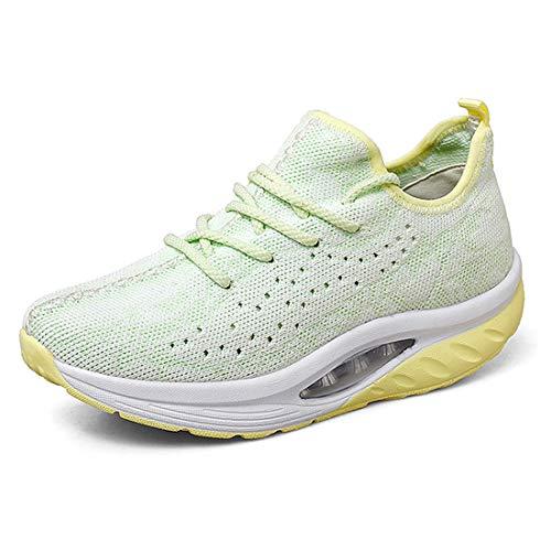 Lanchengjieneng Femmes Plateforme De Marche Chaussures Dames Sports Fitness Gym Orthop/édie Baskets Compens/és Noir EU 40