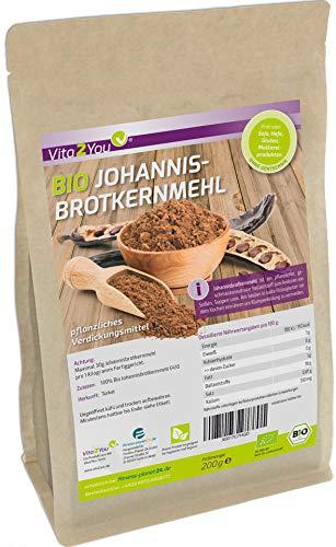 Bio Johannisbrotkernmehl 200g - pflanzliches Bindemittel - Verdickungsmittel - Geliermittel - öko Anbau - Glutenfrei - Premium Qualität
