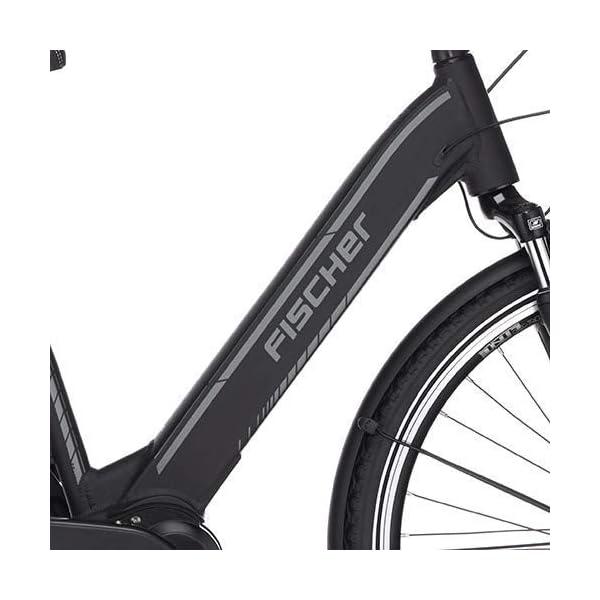 41ZfI5O9bWL. SS600  - Fischer E-Bike City CITA 3.1i, schwarz oder weiß matt, 28 Zoll, RH 44 cm, Mittelmotor 50 Nm, 48V Akku im Rahmen
