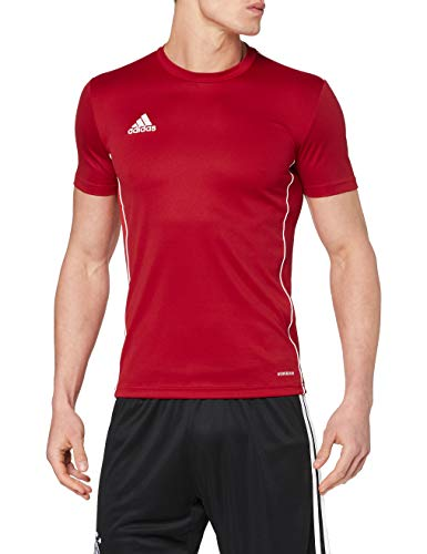 Adidas Core 18 Training Jsy, Camiseta Hombre Rojo (Power Red/White), L