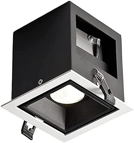 6w LED Downlight Montado En Superficie Luz De Trabajo Cuadrado De Aluminio Iluminación Empotrada En El Techo Foco Antideslumbrante Rejilla De Tienda De Ropa Integrada Panel Empotrado Downlight Lámpara