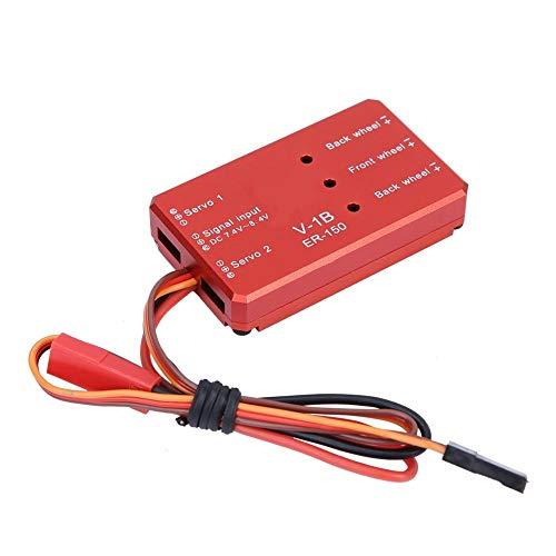 Wosune Tren de Aterrizaje retráctil eléctrico RC, Tren de Aterrizaje retráctil, se Integra Perfectamente para la(Controller (2S Power Supply))