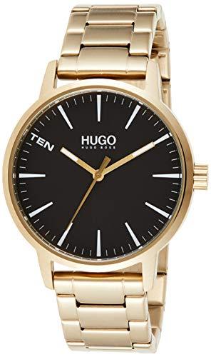 HUGO Herren Analog Quarz Uhr mit Edelstahl Armband 1530142