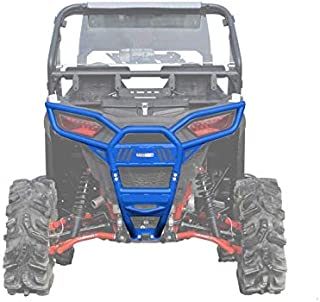 SuperATV Heavy Duty Rear Bumper for Polaris RZR 900 / S 900 / XC 900 (2015+) - Voodoo/Velocity Blue