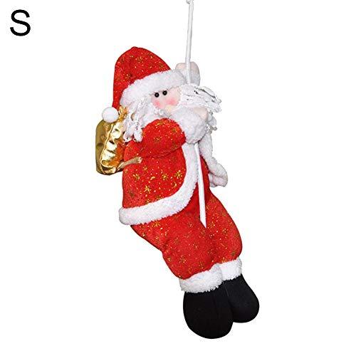 E-House Levert Kerstmis Kerstman klimtouw markt etalage boom raam hangdecoratie - L S