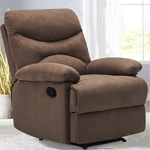 FRIVITY Chair Recliner, Microfiber Ergonomic Sofa Living Room Sofa...
