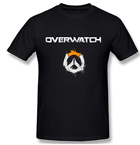 Overwatch Logo Art Graphic T-Shirt (Large Black)