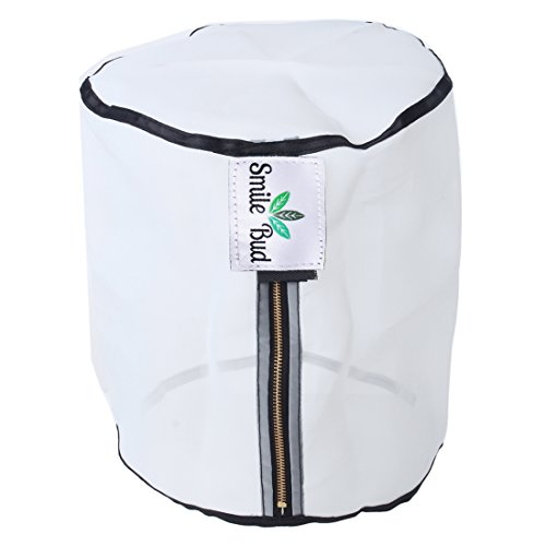 Smile Bud 5 Gallon Zippered 220 Micron bag Bubble Bag, Durable Filter Bag Extraction Bag for Filtration, Nylon Rosin Press Bag for Herbal Extracting Hash Washing Machine