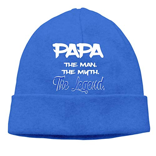 Yuanmeiju Papa The Man The Myth The Legend Adult Hip Hop Breakdance Gorros Caps Unisex Soft Cotton Hedging Cap