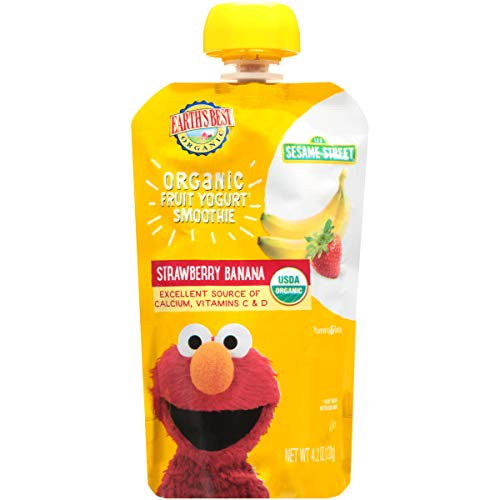Earth's Best Organic Sesame Street Toddler Fruit Yogurt Smoothie,...