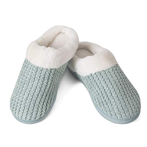 Women's House Shoes Warm Fleece Memory Foam Plush Lining Anti-Slip Cozy Home Slippers Indoor &...
