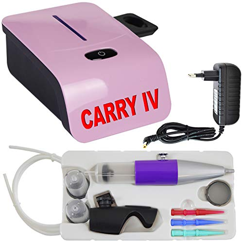 AirBrush Set Carry IV-TC - Airbrush Kompressor mit Sensor-Touch-Control-Technologie/mit Torten-Deco-Airbrush Set für Creme-Spritze Krapfenstritze (Set Carry IV-TC pink)
