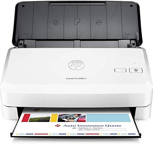 HP ScanJet Pro 2000 S1 (L2759A), Scanner a Singola Scansione, Professionale per Documenti e Immagini, Compatto e Pratico, Bianco