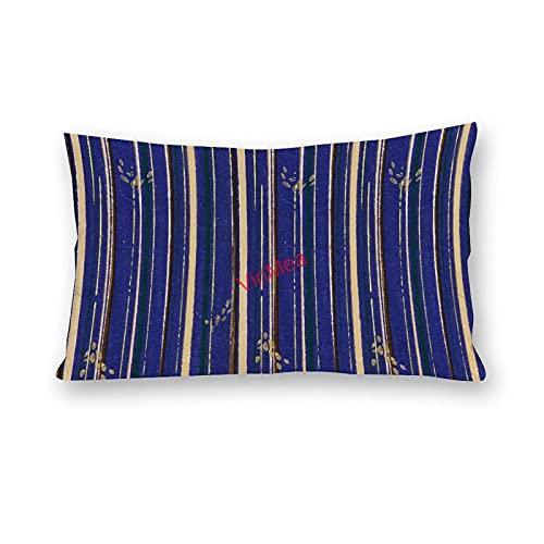 VinMea Fundas de almohada lumbar, un patrón especial 75 fundas de almohada de algodón para sofá, hogar, oficina, decoración de 50 x 60 cm