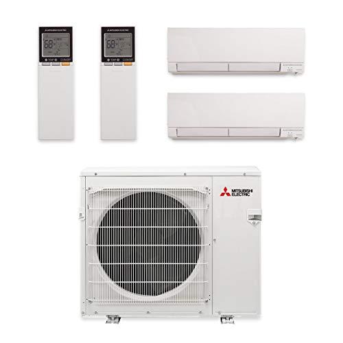 Mitsubishi MXZ-2C20NAHZ-2WF-00-20,000 BTU Hyper Heat Dual-Zone Wall Mount Mini Split Air Conditioner...