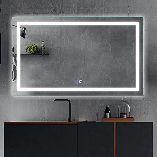 ExBrite LED Bathroom Vanity Mirror, 40 x 24 inch, Anti Fog, Night Light, Dimmable, Touch Button,Superslim,90+ CRI, Waterproof IP44,Both Vertical and Horizontal Wall Mounted Way