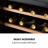 Klarstein Vinamour Uno Weinkühlschrank, externes Touch-Bedienfeld, luxuriös: Sicherheitsglastür mit Edelstahl-Rahmen, Kapazität: 12 Flaschen / 46 Liter, eine Kühlzone: 4-18 °C, 40 dB, schwarz - 7