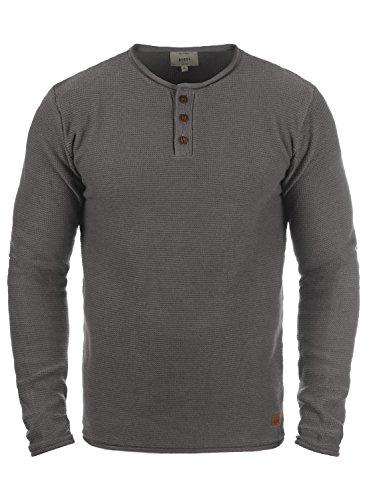 Redefined Rebel Milford Herren Strickpullover Feinstrick Pullover Mit Rundhals Und Knopfleiste Aus 100{d1d05423b0d94338c0d3ed5c5151c664db90101103ecf6799e6aa1729142d7f9} Baumwolle, Größe:L, Farbe:Mid Grey