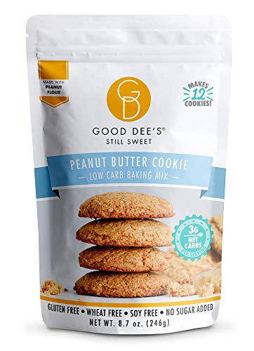 Good Dee's Peanut Butter Cookie Mix   Keto Baking Mix   Dairy-Free, Gluten-Free, Soy-Free, IMO-Free, Low Carb Cookie Mix   Diabetic, Atkins & WW Friendly - (3g Net Carbs, 12 Servings)