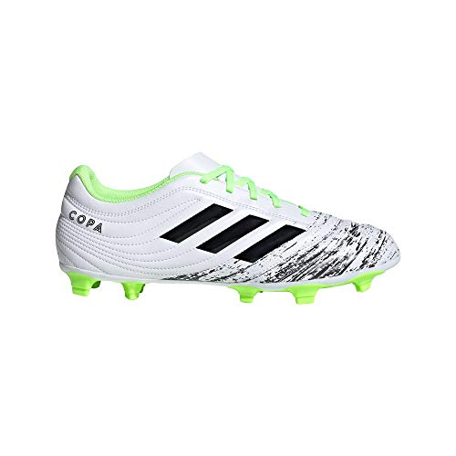 adidas Herren Copa 20.4 FG Football Shoe, Footwear White/Core Black/Signal Green, 42 EU