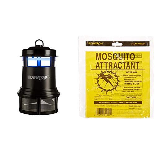 DynaTrap Insect Trap (DT2000XLP), XL, Black & Flowtron MA-1000-6 Octenol Mosquito Attractant Cartridges, 6-Pack