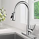 SOKA Kitchen Faucet Chrome with Pull Down Sprayer Kitchen Sink Faucet...