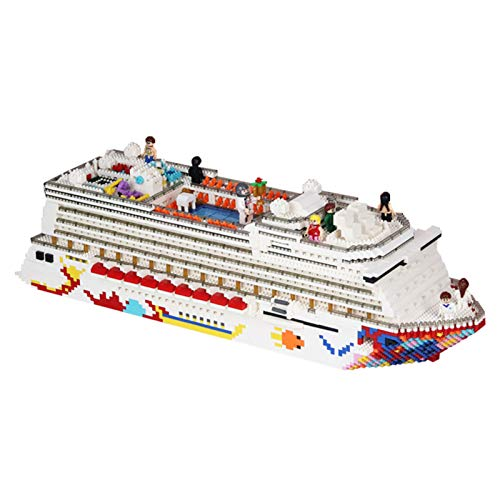 ESGT Mini Building Micro Blocks One Piece Luxury Cruise Liner 3D Model DIY Diamond Bricks Toy Gift FOR BOY And Kids