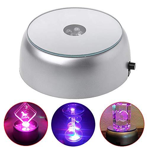 AZXAZ Base lumineuse ronde et lumineuse multicolore LED pour verres à cocktail transparents (7 cm)