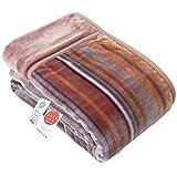 昭和西川 【累計販売実績15,000枚以上】 毛布 ブラウン シングル 暖ふわ 肌触り なめらか 2枚合わせ 毛布 2230554450206