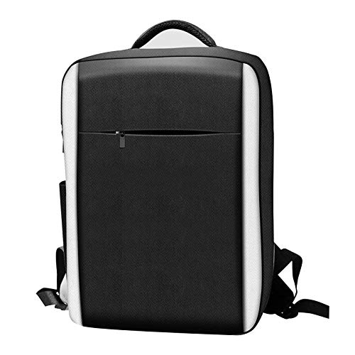 wujomeas Storage Bag for PS5, Travel Bag - Game Controller Accessory Storage Bag Backpack for PS5, Waterproof Carrying Case Organizer Fit PS5, Carrying Case for PS5 Console