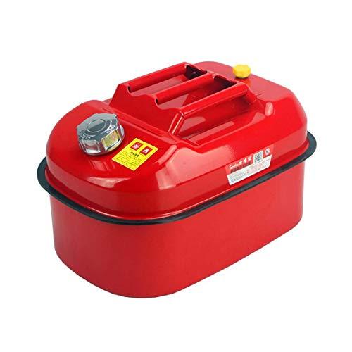 Las latas de gas for motocicletas 5L / 10L / 20L portátil coche del hierro del tanque de combustible de gasolina Latas espesado de repuesto del depósito de combustible for las latas de coche de la mot