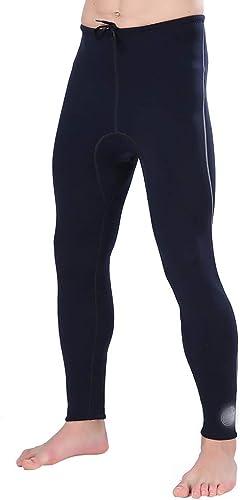 FUBULECY Pantalon De Plongée Intérieur Taille Haute Et Long Maillot De Bain d'hiver, Pantalon De Plongée Intérieur en Daim Super élastique (Couleur   Noir, Taille   S)