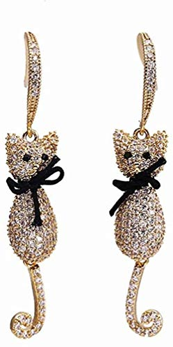 Earring Girl cute cat bow earrings exquisite fashion popular classic wild temperament cut