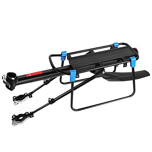 Special-U Bike Rear Rack Carrier for Pannier Bags, Luggage, Cargo, Adjustable Aluminum Alloy Mountain Bicycle Back Seat Rack Holder with Reflector for Cycling Camping Touring (50kg Load)